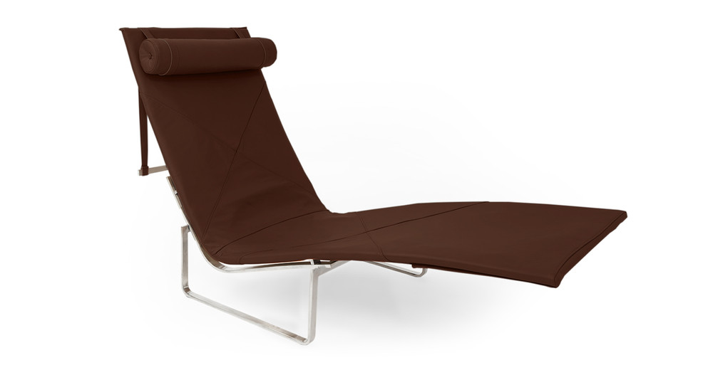 PK24 Lounge Chair, Coco Brown Premium Leather (Clearance)