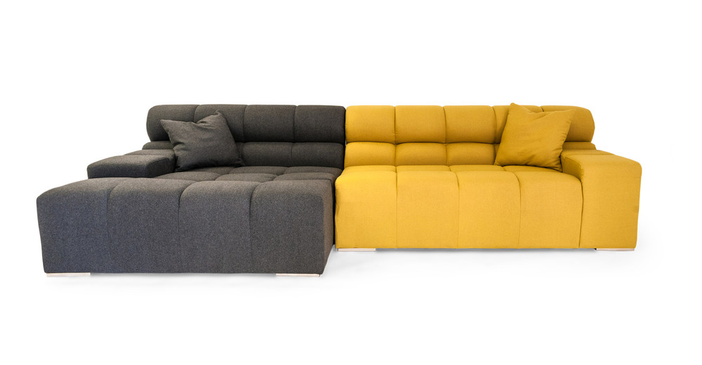 Cubix Sofa Sectional Left, Charcoal/Arylide
