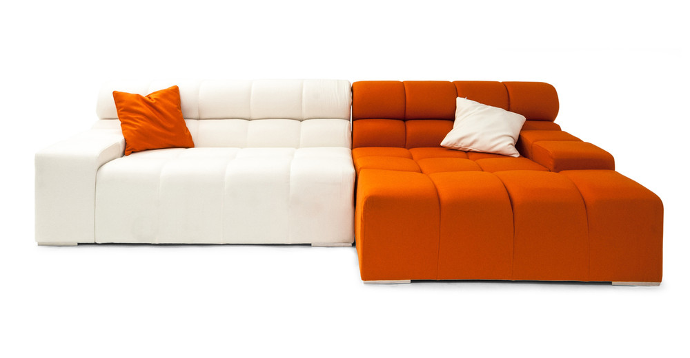 Cubix Tufted chaise sectional