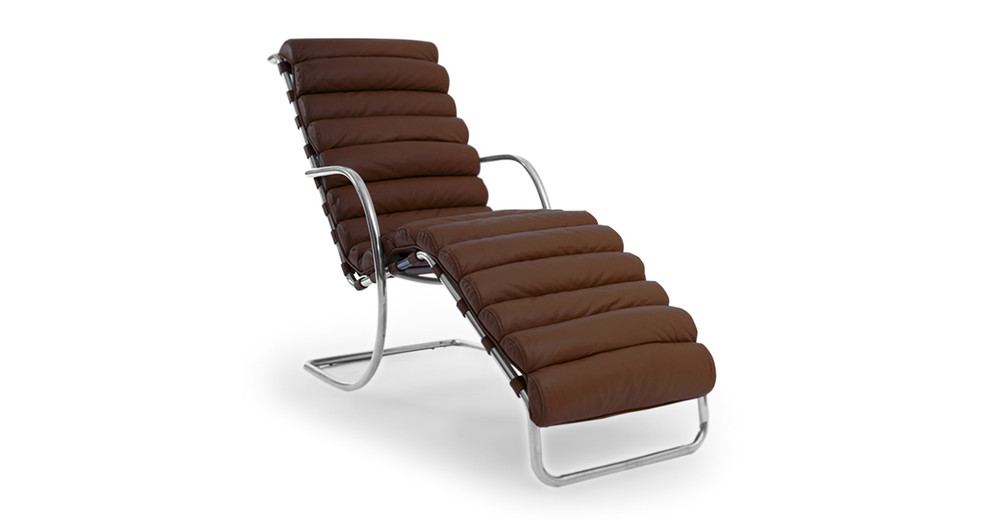 Mies Chaise, Coco Brown Premium Leather (Clearance)