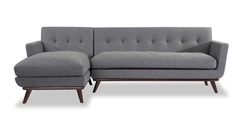 Jackie Sofa Sectional Left, Cadet Grey