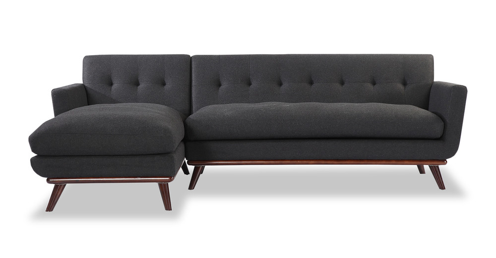 Jackie Sofa Sectional Left, Charcoal