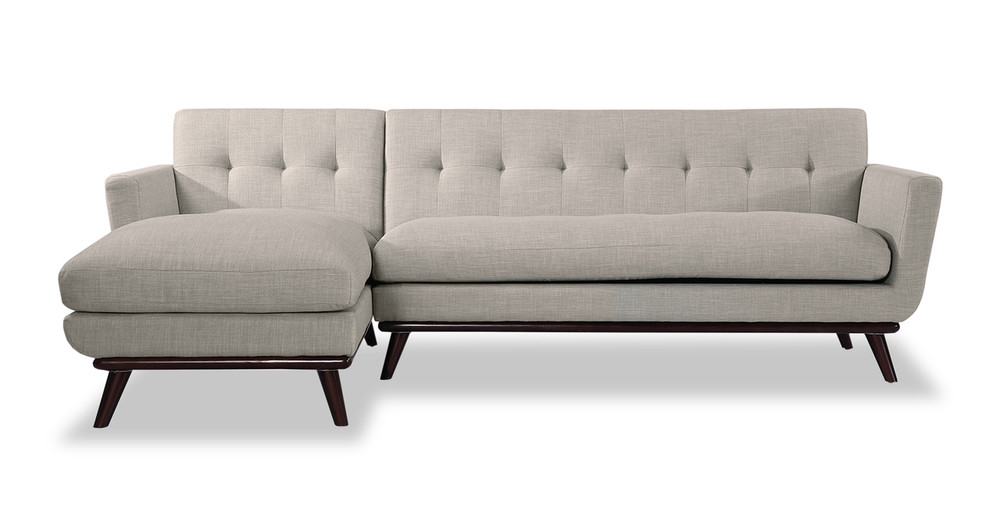 Jackie Sofa Sectional Left, Dove Grey
