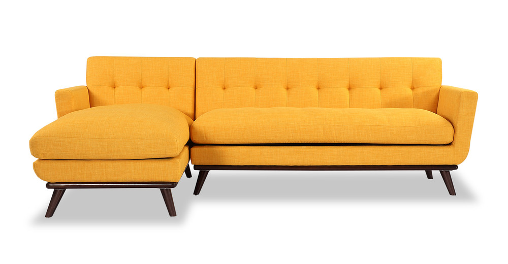 Jackie Sofa Sectional Left, Citrus Pop