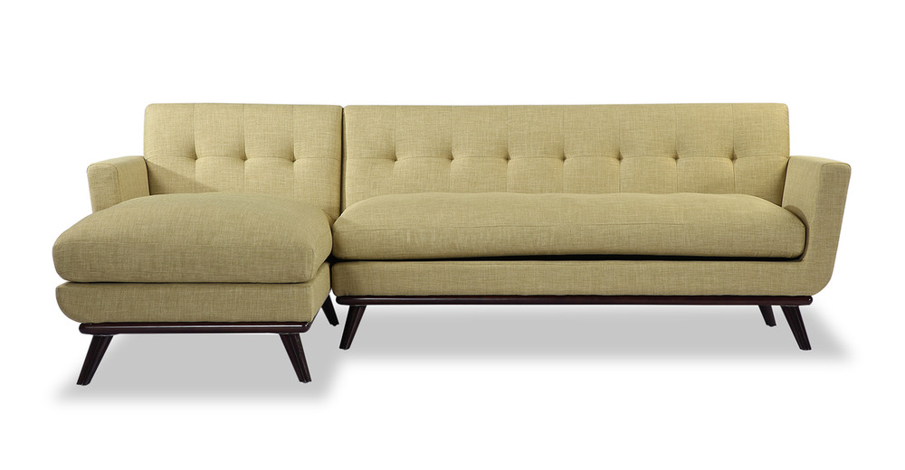 Jackie Sofa Sectional Left, Lemon Grass