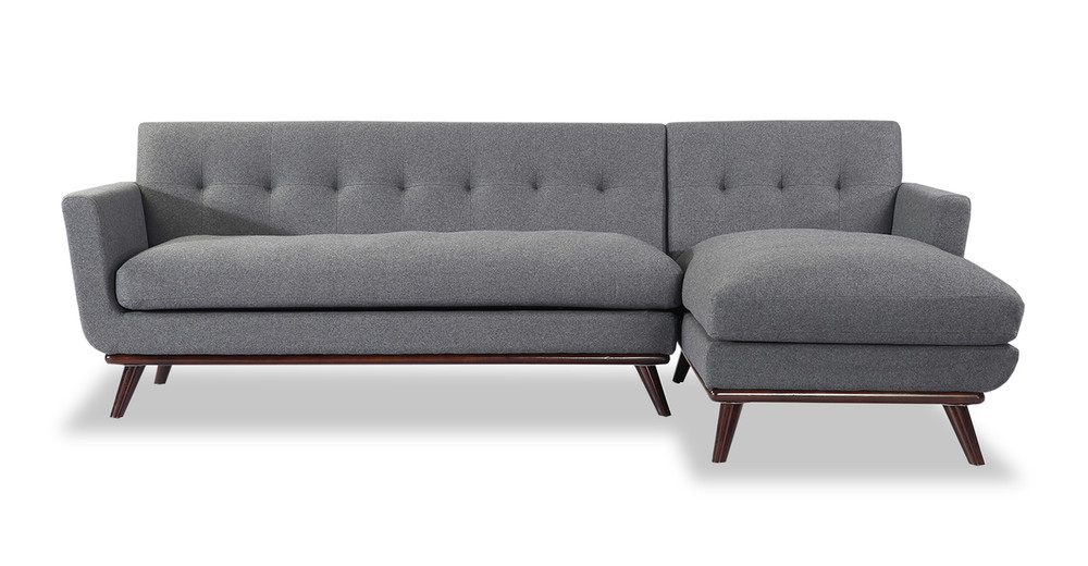 Jackie Sofa Sectional Right, Cadet Grey
