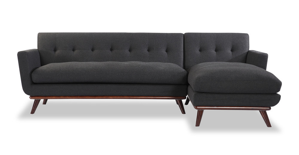 Jackie Sofa Sectional Right, Charcoal