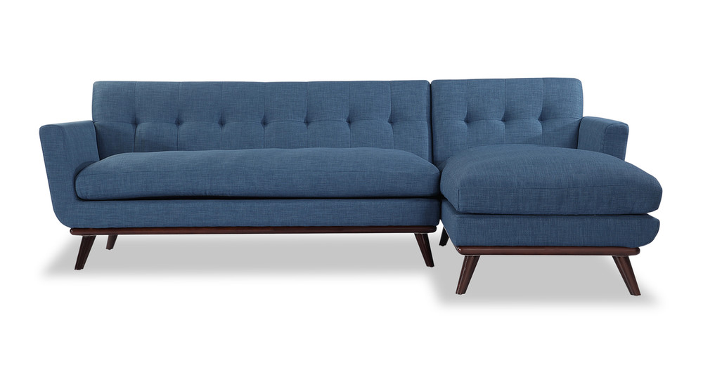 Jackie Sofa Sectional Right, Blue Curacao