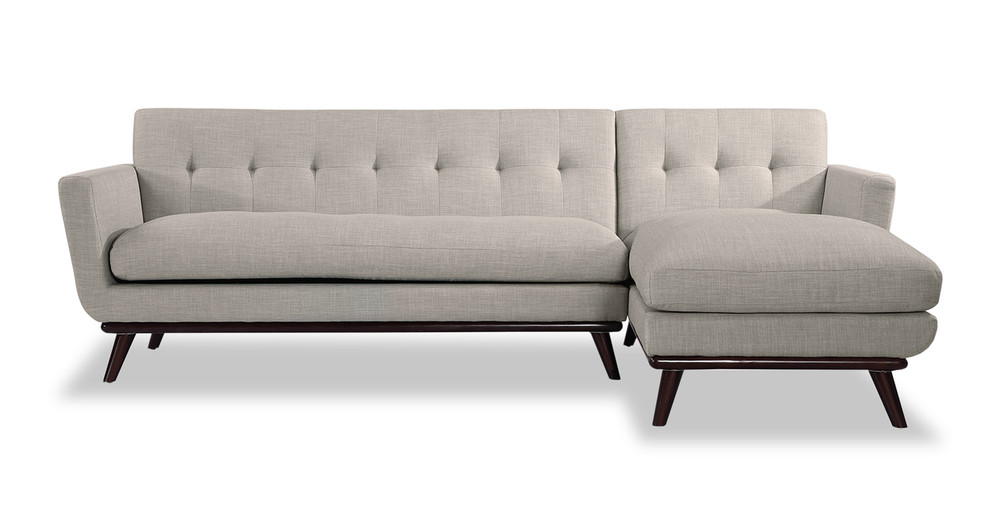 Jackie sofa sectional right dove grey kardiel for Dove grey sectional sofa