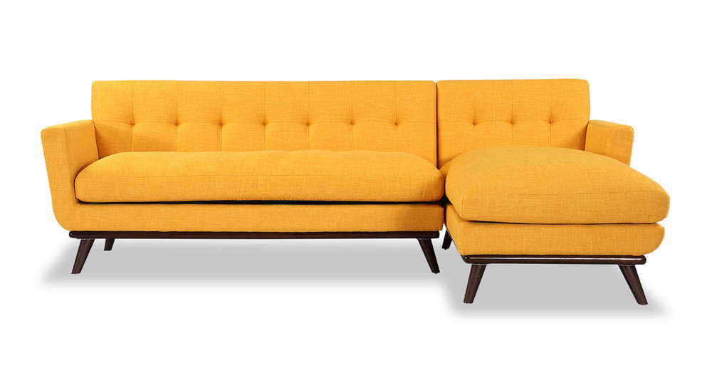 Jackie Sofa Sectional Right, Citrus Pop