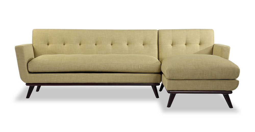 Jackie Sofa Sectional Right, Lemon Grass