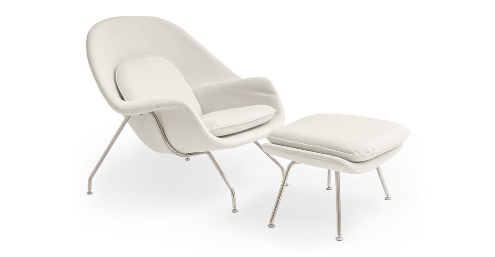 Womb Chair & Ottoman, South Beach