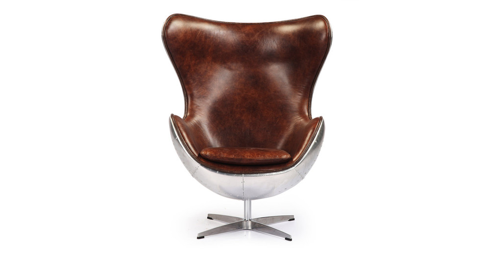 Amoeba Steampunk Chair, Brown Leatherette