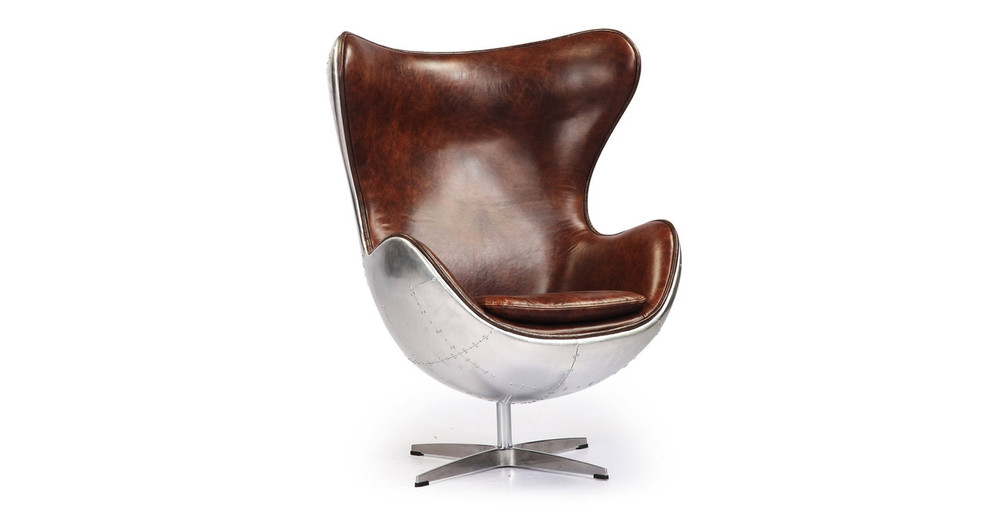 ... Amoeba Steampunk Chair, Brown Leatherette ...
