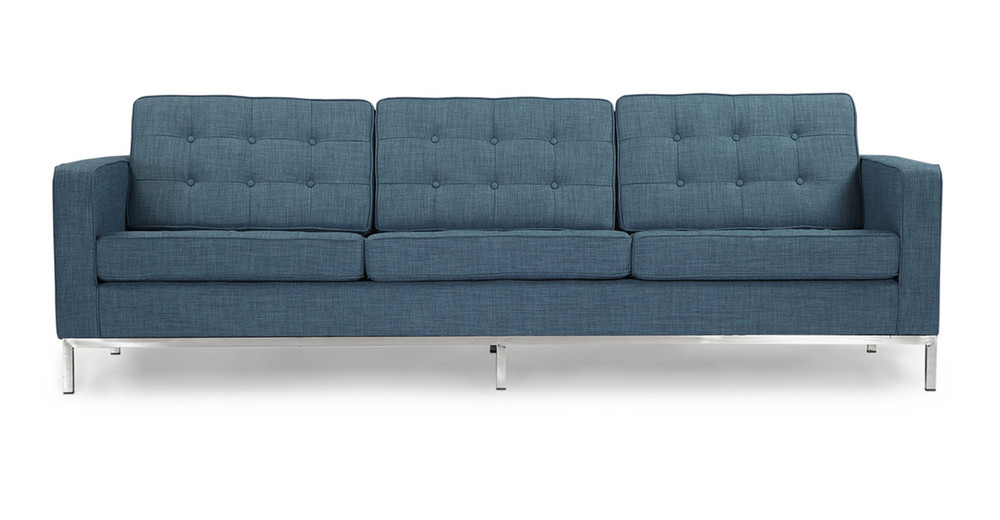 Florence Sofa, Blue Curacao Twill