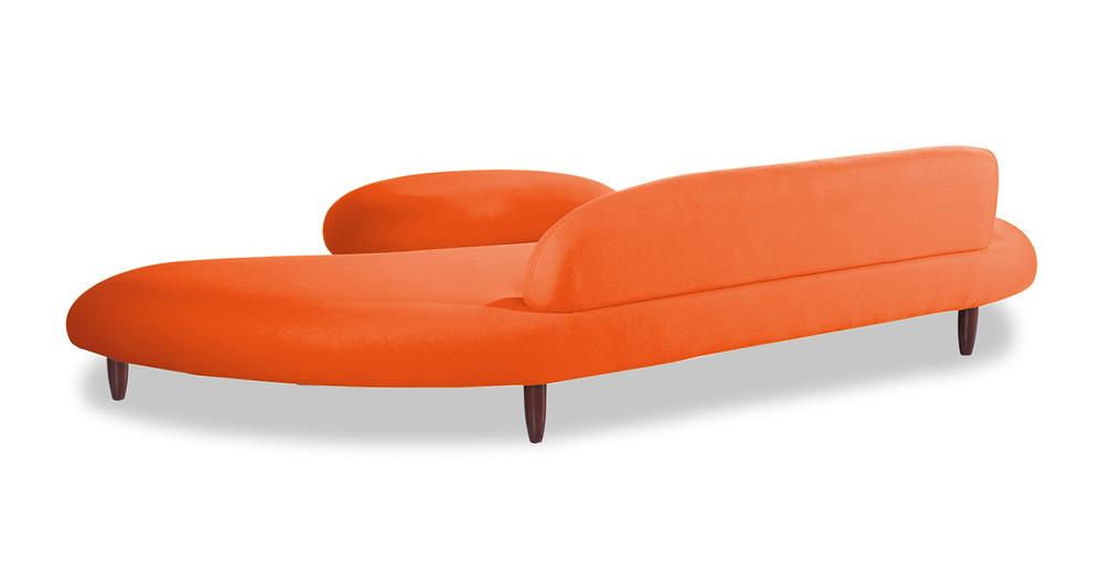 Kidney Bean Sofa Amp Ottoman Orange Kardiel