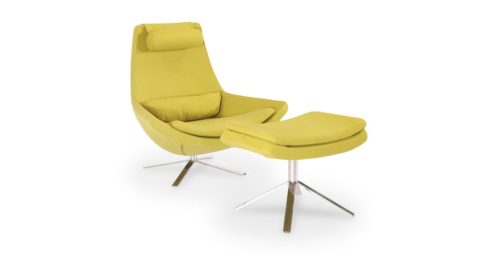 Retropolitan Chair & Ottoman, Dijon