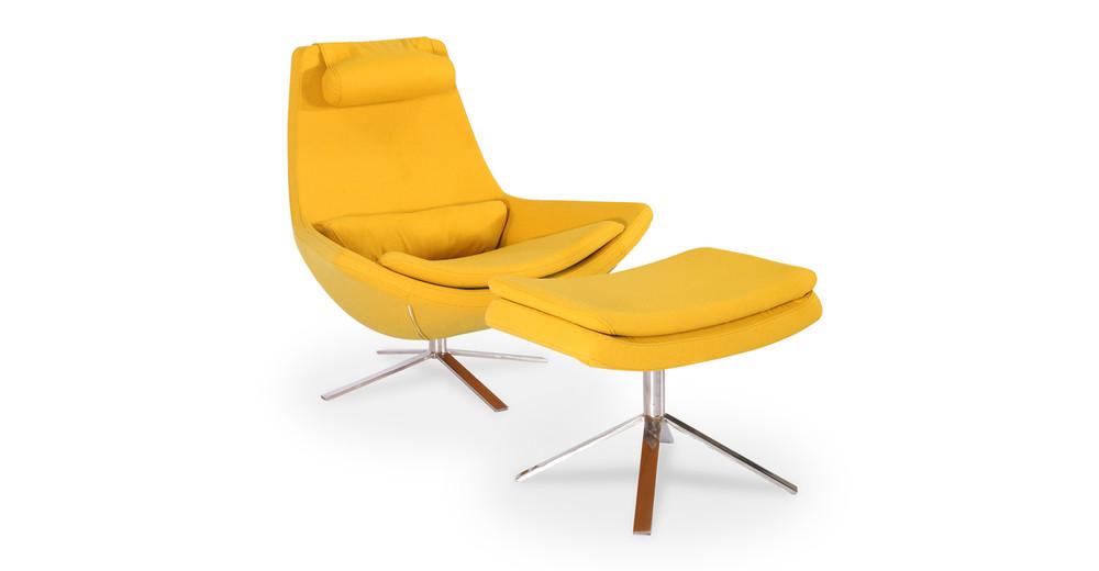 Retropolitan Chair & Ottoman, Sunrise