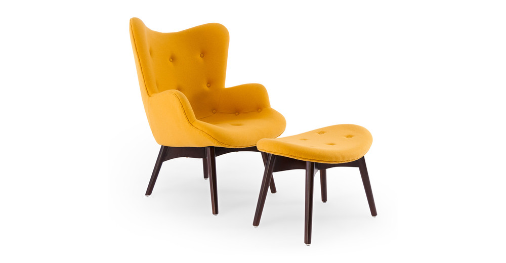 Contour Chair & Ottoman, Sunrise