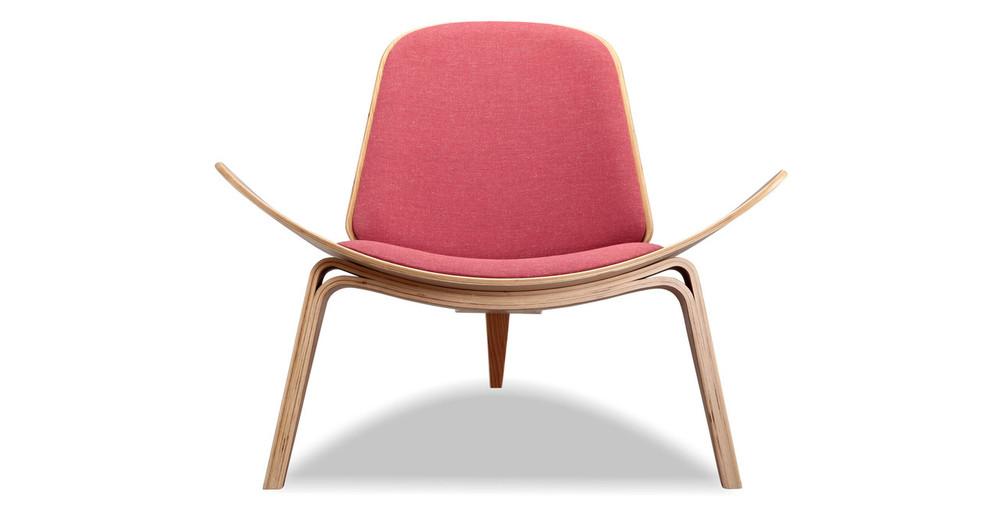 Tripod Chair, Urban Coral/Oak
