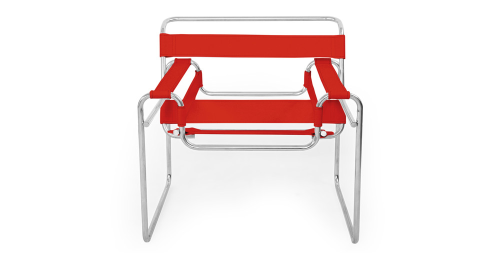 Wassily Chair, Red Leather