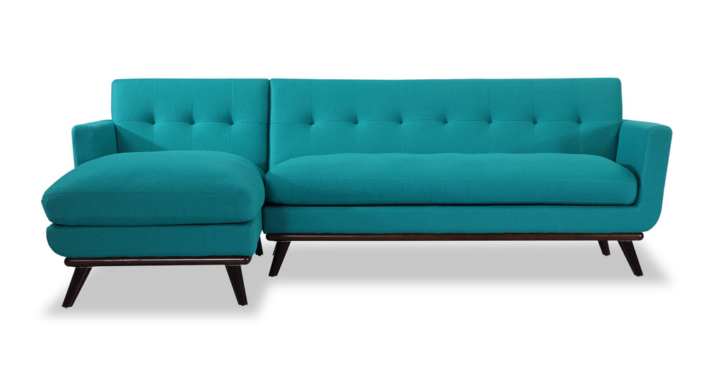 Jackie Sofa Sectional Left, Turquoise