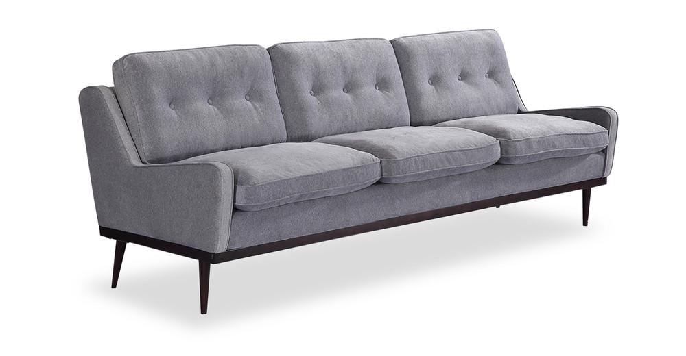 Elektra Sofa, Greystone Velvet