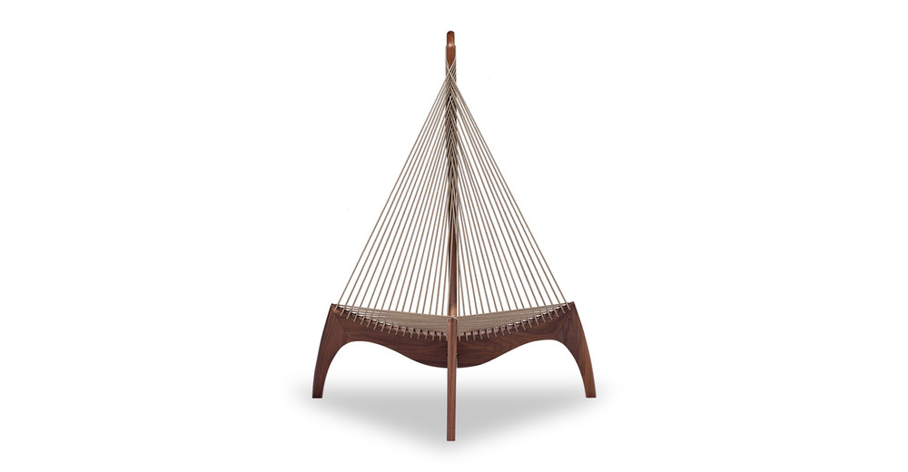 Harp Lounge Chair, Walnut