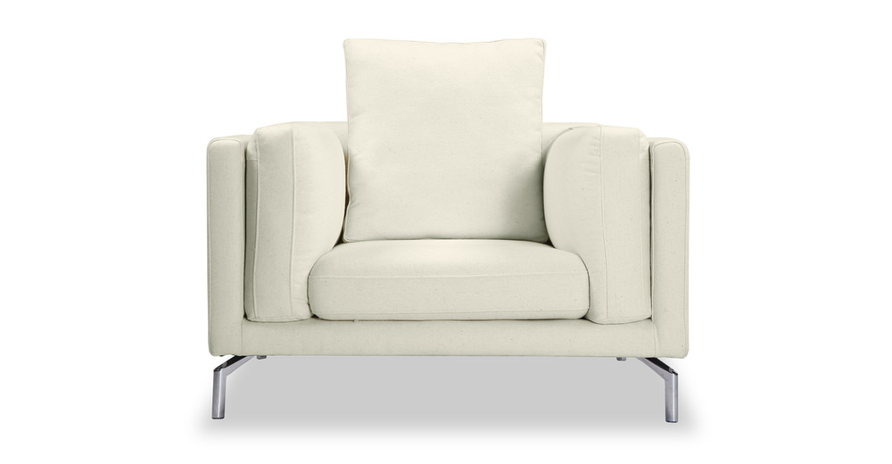 Basil Loft Arm Chair, White Peacoat