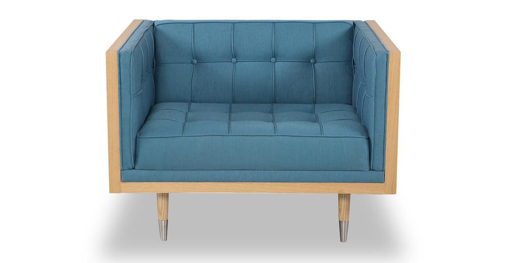 Woodrow Box Chair, Ash/Urban Surf
