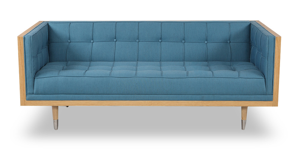 Woodrow Box Loveseat, Ash/Urban Surf