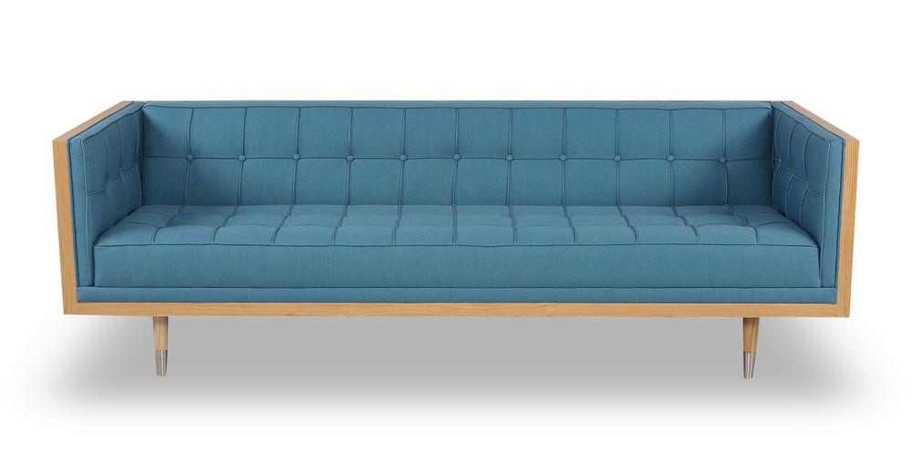 Woodrow Box Sofa, Ash/Urban Surf