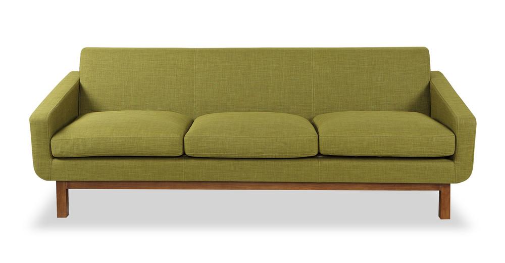 Platform Sofa, Atomic Moss/Walnut