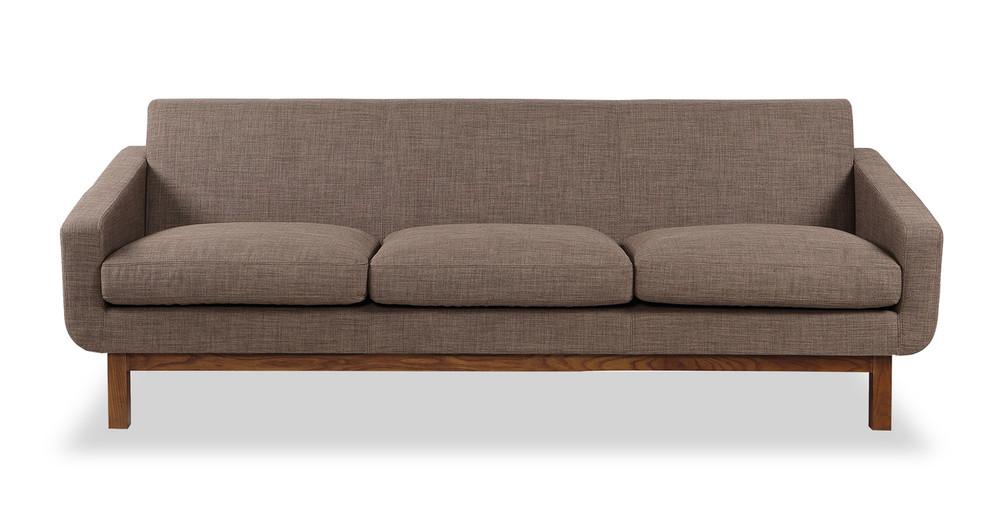Platform Sofa, Tundra/Walnut