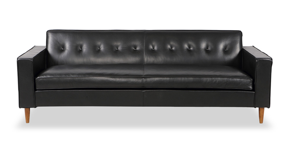 Eleanor Sofa, Black Premium Leather