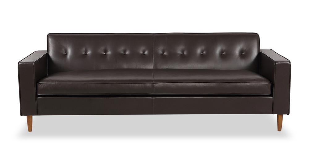 Eleanor Sofa, Brown Premium Leather