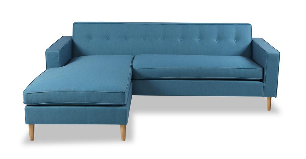 Eleanor Bi-Sectional Sofa, Urban Surf