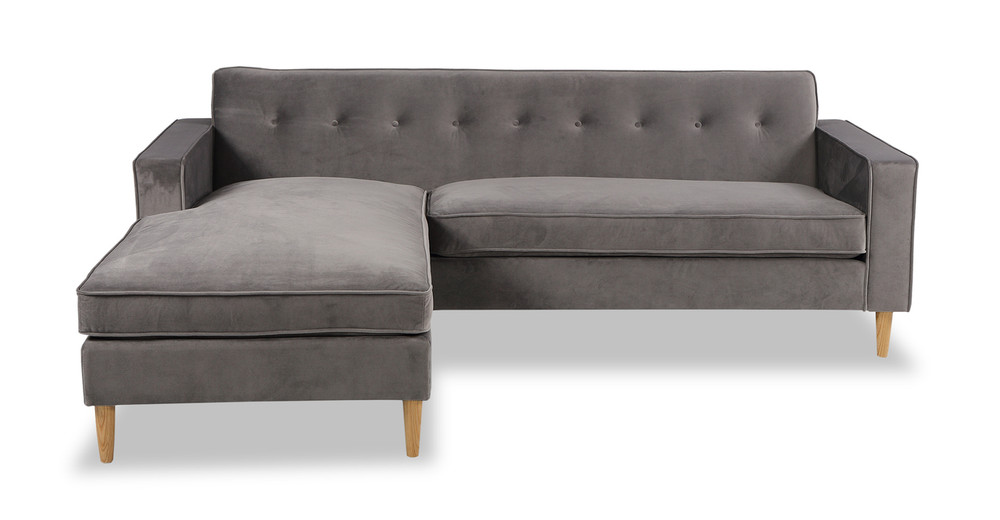 Eleanor Bi-Sectional Sofa, Intuit Velvet