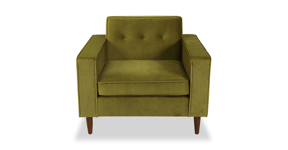 Eleanor Chair, Olive Velvet