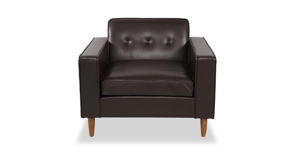 Eleanor Chair, Brown Premium Leather