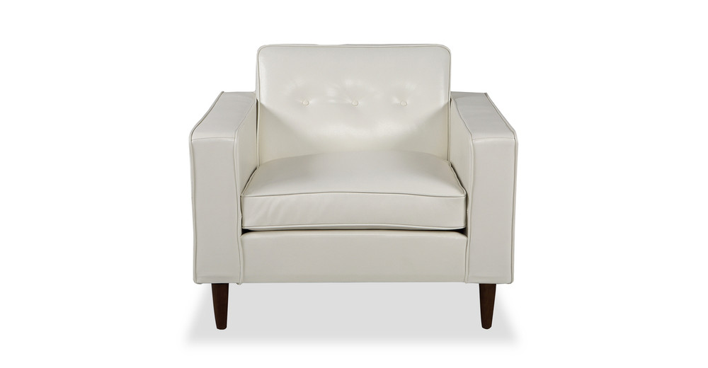Eleanor Chair, White Premium Leather