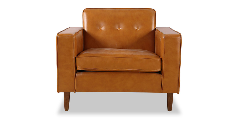 Eleanor Chair, Tan Premium Leather