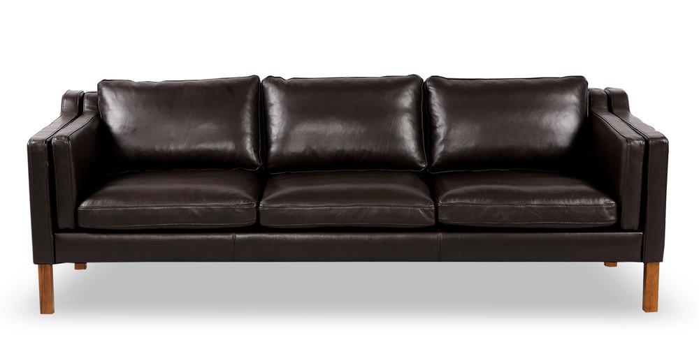 Monroe Sofa, Brown Aniline Leather