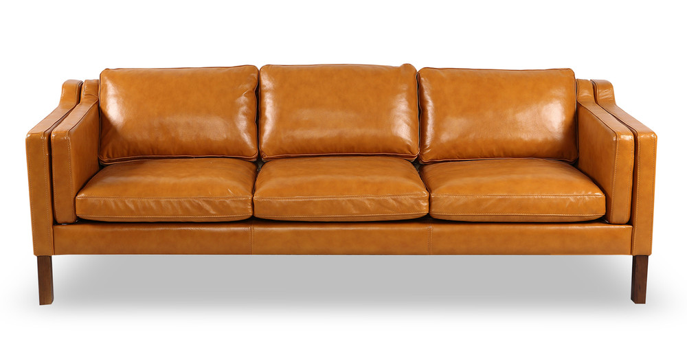 Monroe Sofa, Tan Aniline Leather