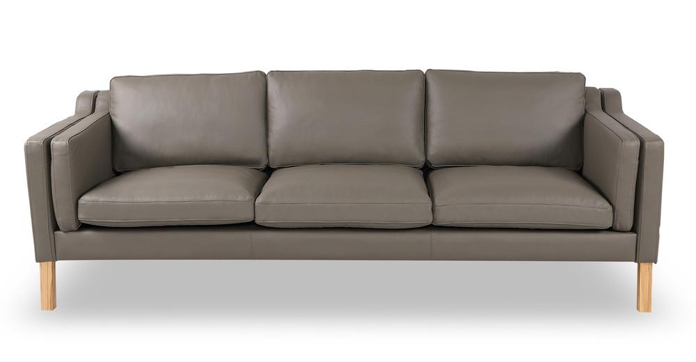Monroe Sofa, Grey Aniline Leather