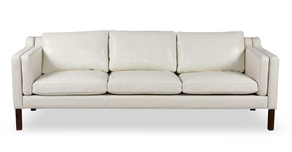 Monroe Sofa, White Aniline Leather
