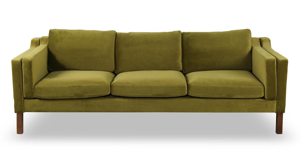 Monroe Sofa, Olive Velvet
