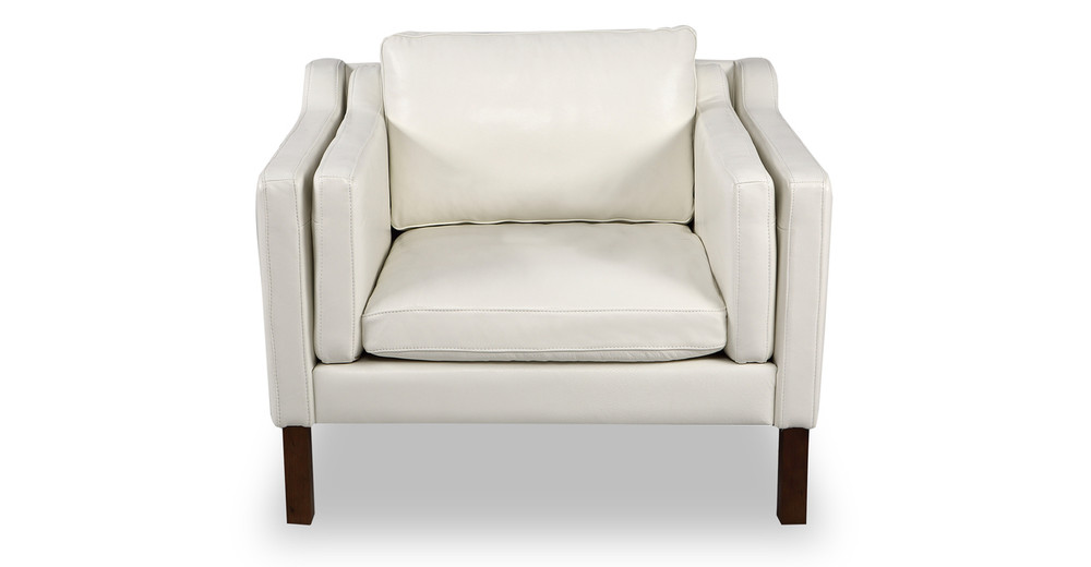 Monroe Chair, White Aniline Leather