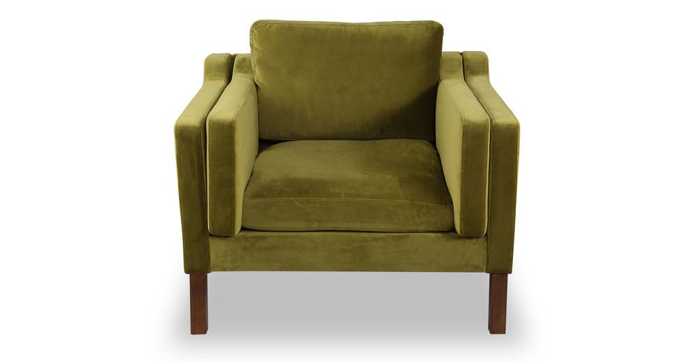 Monroe Chair, Olive Velvet