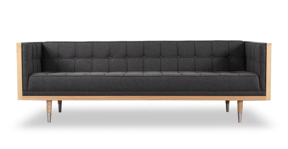Woodrow Box Sofa, Ash/Shale